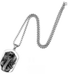 Snack Necklace <br> Military Cobra (steel) - The Vipers House