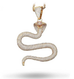 Snake Necklace <br> Cobra Zirconium (silver) - The Vipers House