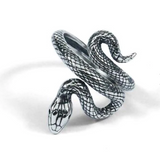 Snake Ring <br> Hunting Boa (silver) - The Vipers House