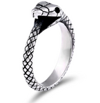 Snake Ring <br> Ouroboros Mythology (steel) - The Vipers House
