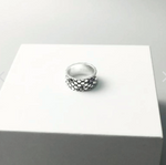 Snake Ring <br> Robust Scale (silver)