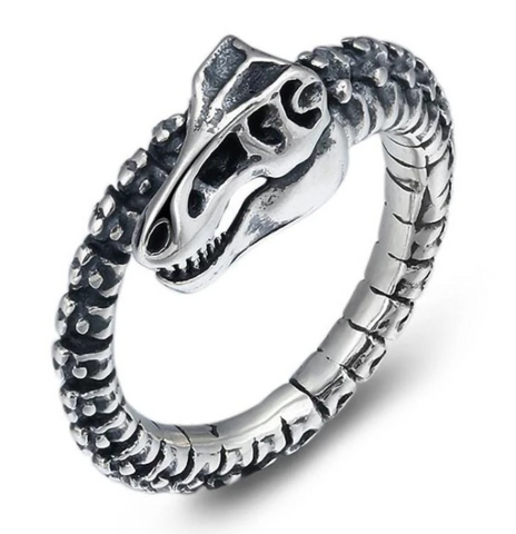 Snake Ring Evil Serpent Skeleton