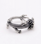 Snake Ring <br> Dragon (silver)