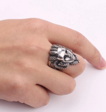 Snake Ring <br> Medusa Gorgon (steel)