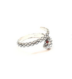Snake Ring <br> Refined Worm (silver)