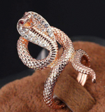 Snake Ring <br> Cobra Woman (STEEL)
