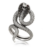 long cobra snake ring