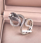 serpent ring cobra stainless steel