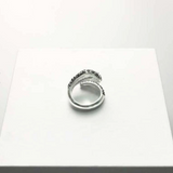 Snake Ring <br> Black And White (silver)