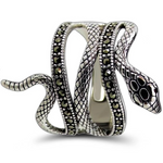 krait snake ring
