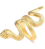 Snake Ring Yellow Gold
