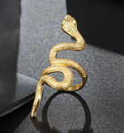 Snake Ring <br> Yellow Gold (steel)