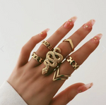 Snake Ring <br> Golden Reptile (steel)