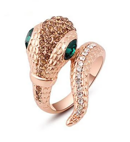 Snake Ring Animal Rhinestone