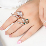 Snake Ring <br> Animal Rhinestone (steel)