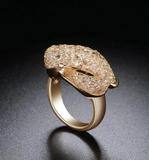 gold snake signet ring