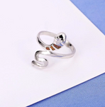 Snake Ring <br> Subtle Lady (silver)