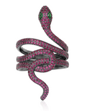 purple snake ring silver