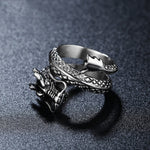 asian serpent dragon ring