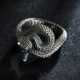 realistic snake ring