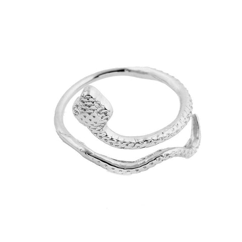 little snake ring silver color