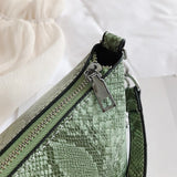 snakeskin handbag zipper