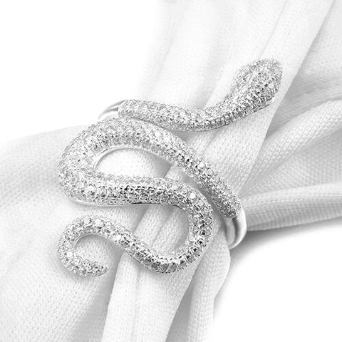 Snake Ring <br> Silver Womens