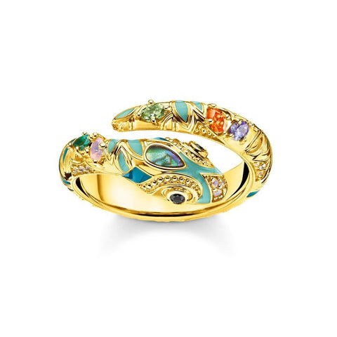 snake shaped ring gold