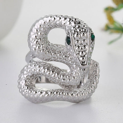 snake ring crystal