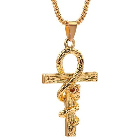 Ankh Snake Necklace - The Vipers House
