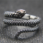 handcrafted snake ring for mens the vipers house