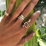 Snake Ring <br> Female Gold (steel)