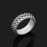 Snake Ring <br>  Reptile Scales (steel)