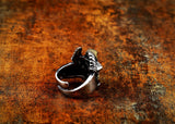 Snake Ring <br> Biker Cobra (steel)
