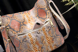 Snakeskin Handbag <br> Hobo Bag