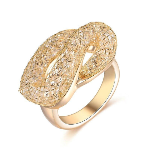 Snake Signet Ring Splendid Gold