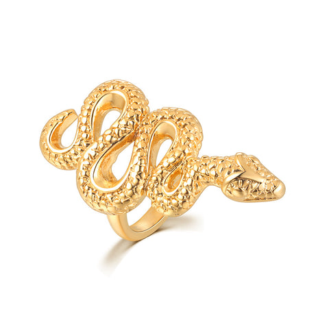 Snake Ring Golden Reptile