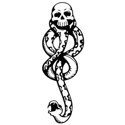 Temporary snake tattoo <br> Python & Skull - The Vipers House