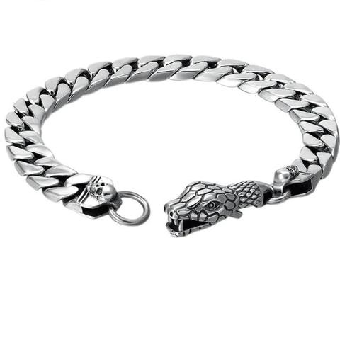 Snake bracelet - Silver Vertebrae - The Vipers House