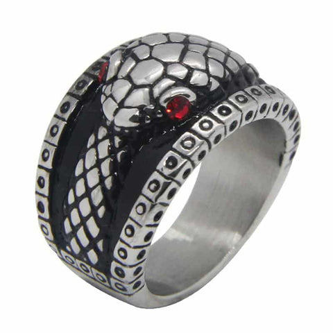 Snake ring <br> Devil's eyes (steel)