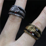 Snake ring <br> Devil's eyes (steel) - The Vipers House