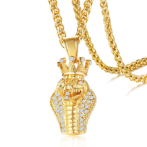Gold Cobra Necklace - The Vipers House