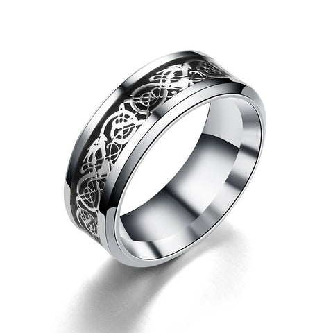 Snake Ring Silver And Black Celtic Serpent