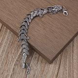 Snake Bracelet <br> Mythical Dragon (Steel)