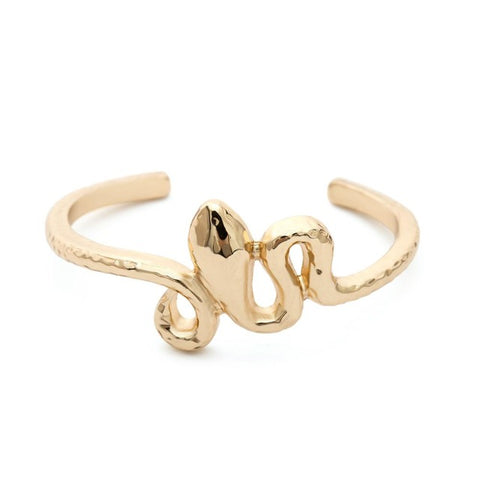 Snake bracelet - Gold Coiled Viper - The Vipers House