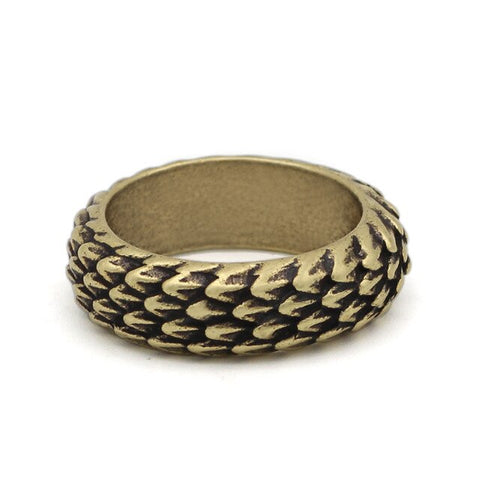 Snake Ring Golden Reptile Scales