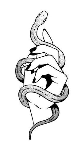 snake and hand temporary tattoo