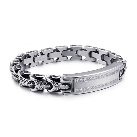 Snake Bracelet <br> Domination (steel) - The Vipers House