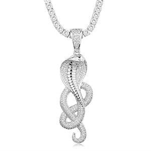 Snake Necklace <br> Cobra Deluxe (silver)