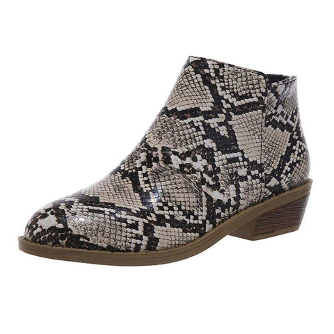 Snakeskin Shoes <br> Brown Women Dictator